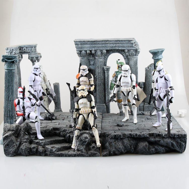 Custom Superieure Kwaliteit Helm Movable Pvc Action Starwars Figuur Model Speelgoed