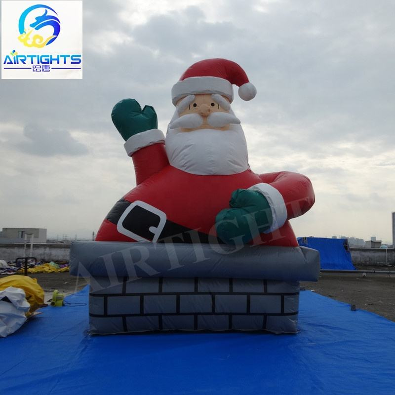 Father Christmas model outdoor Christmas decorative big inflatable Santa Claus balloon