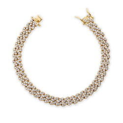9mm High Quality 18k Gold Plated Micro Pave CZ Women's Miami Iced Out Cuban Link Anklet Jewelry
