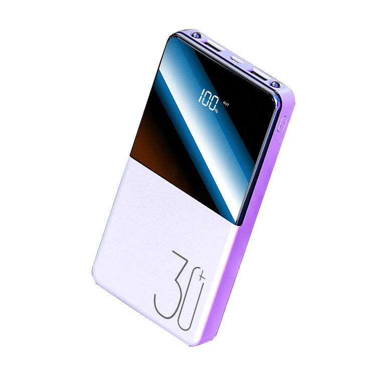 Custom Real capacity Portable 30000mAh Mobile external battery fast charging mobile charger power bank