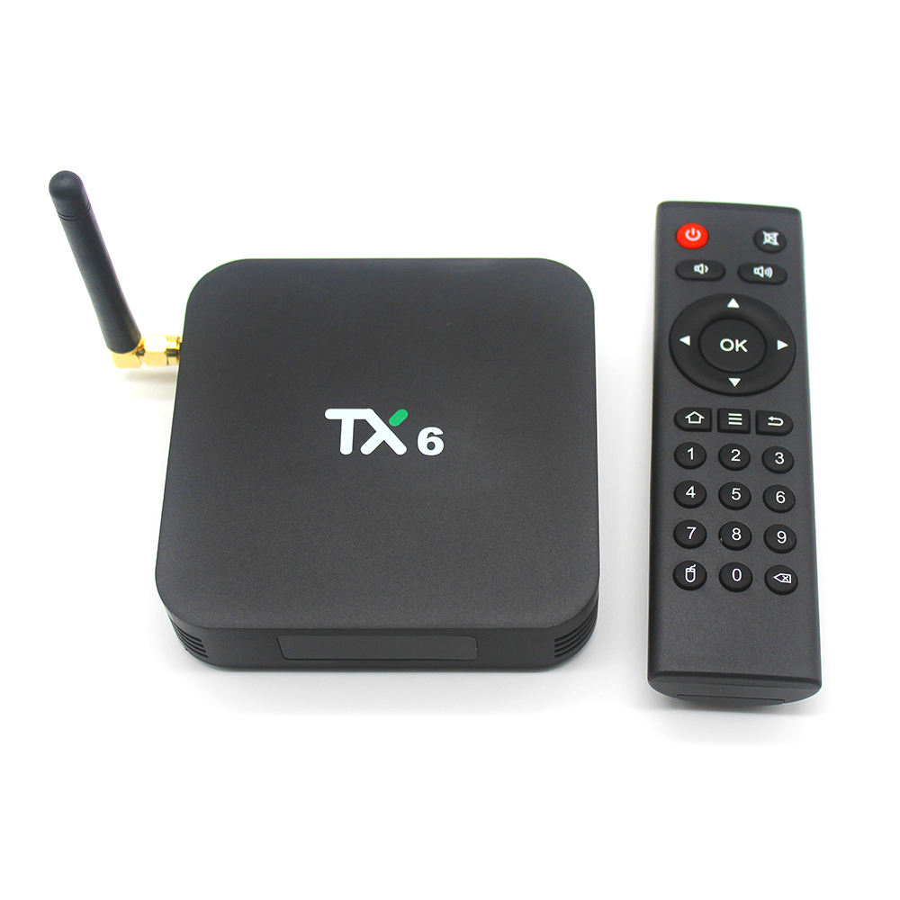 Più nuovo H6 TV box Quad Core Android 9.0 Tanix TX6 4GB 32GB <span class=keywords><strong>Internet</strong></span> Allwinner H6 Android TV Box