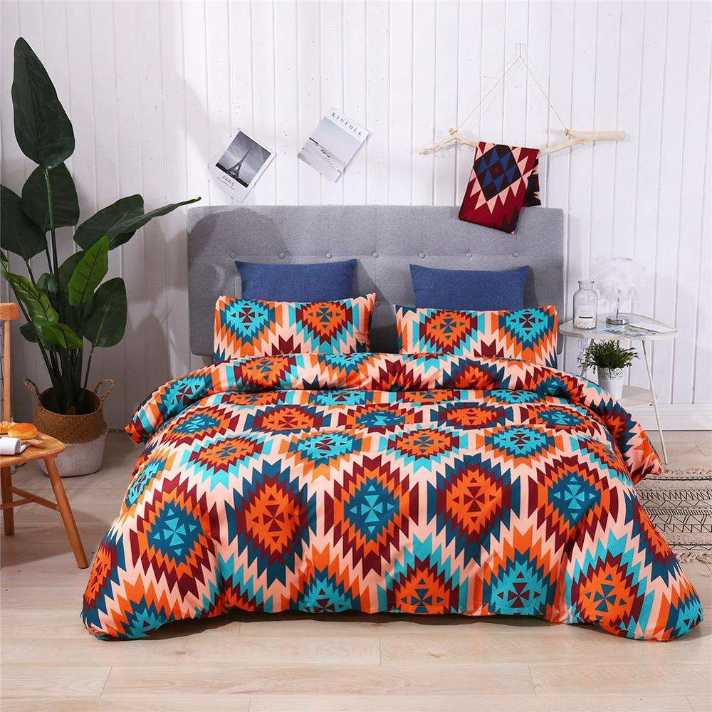 Twin Size Bohemian Quilt Cover set printing comforter bedding set duvet cover bed cover Bedclothes Pillow case Home Textile