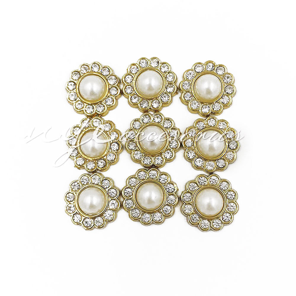 New plastic semi-circular pearl rhinestone lace rivet clothing luggage accessories
