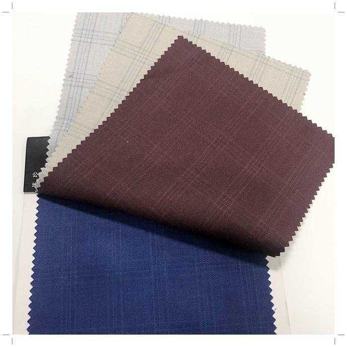 tr suit/check fabric cheap price to Nigeria/Africa/Niger New samples plain dyed men tr Dubai suit fabric with check designs