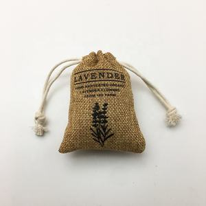 Wholesale Gift Burlap Gunny Pouch With Drawstring Jute Bag