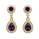 Luxury fashion sample crystal aretes de moda para mujer