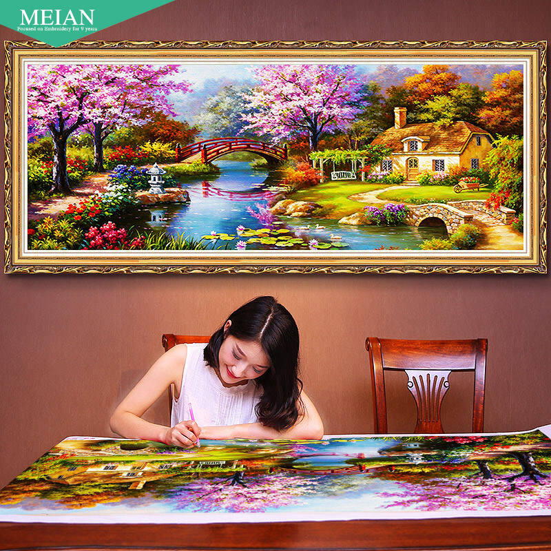 5d diamond painting crystal diy embroidery Full Drills Dreamy Scenery big Diamond Painting for livingroom