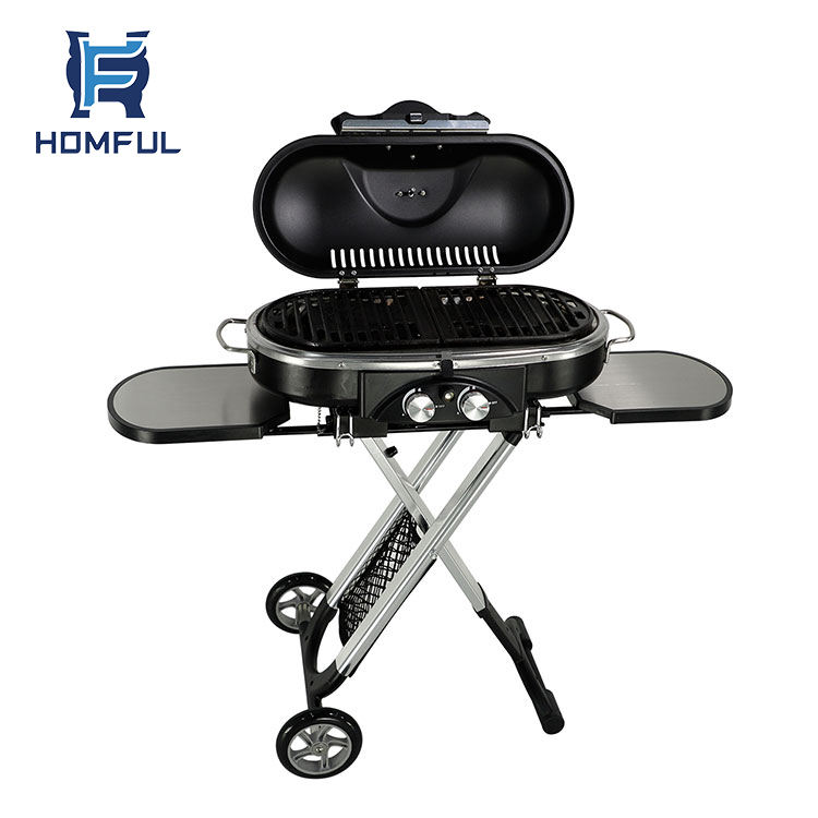 Homful Camping Trolley Barbecue Grill Outdoor Draagbare Opvouwbare Elektrische Gas Bbq Grill