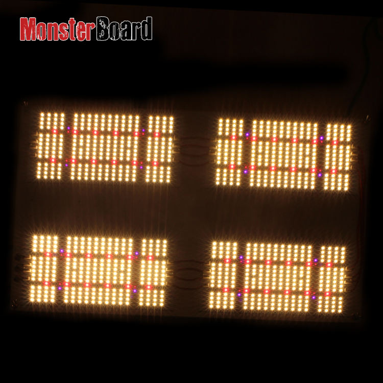 Pre-assemble geeklight 480w monster board samsung lm301h +cree +lg led panel grow light for tent