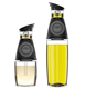 Olive Oil Dispenser Bottle Set 2 Pack Oil and Vinegar Cruet with Drip Free Spouts Includes 17oz [500ml] and 9oz [250ml]