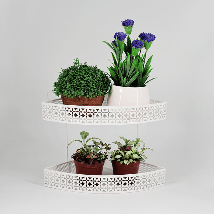 Double Desk Triangle Flower Stand Potted Flower Stand Planter Pot Stand