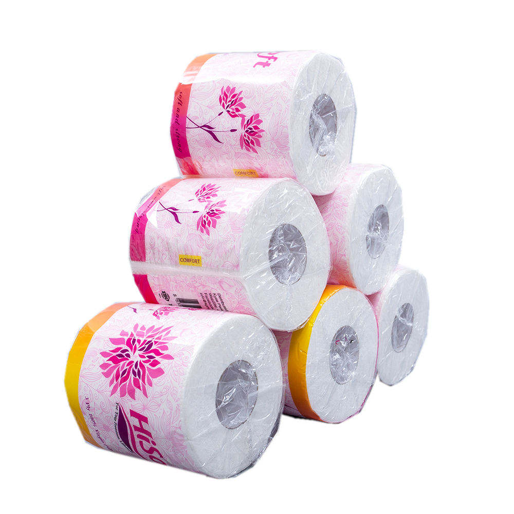 Customise 100% Virgin Individual Wrapping Hard Toilet Tissue Paper Stocker Packet For Hotel In Bag