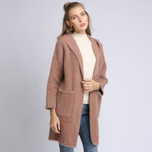 Fashion Sweater Loose Size Double Side Winter New Arrival Hot Sale Luxury Long Lady Cashmere Women's Cardigan 100%cashmere Coat