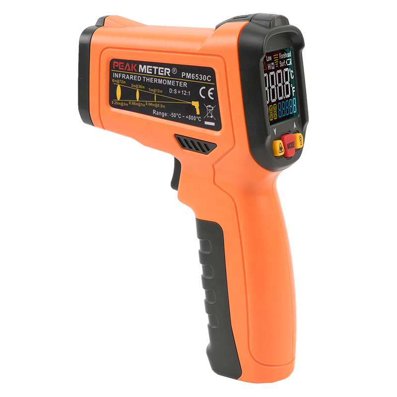 Peakmeter PM6530C Factory hot sales Custom Handheld Infrared Thermometer K - Type Temperature Probe Super Quick Response