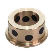 Customized Graphite Plugged Brass Flange Guide Slide Bearing