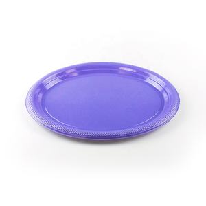 Custom Colorful 12 Inch Plastic Disposable PS Plate And Cups Party Decoration Plate Wholesale