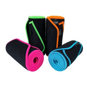 Custom colorful neoprene waist trainer belt gym sports sweat slimming waist trimmer belt