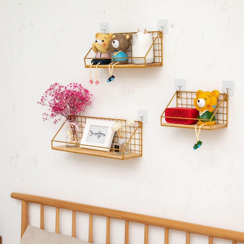 For Fruit White Wall Mount Vegetable Bedroom Dormitory Pantry Freezer Metal Iron Wire Storage Basket