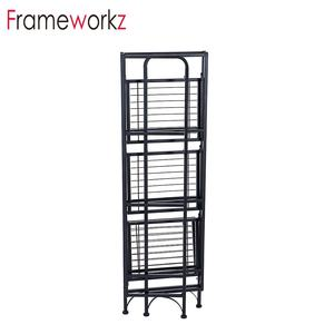 4 tier Kitchen/living room new arrival foldable shelf metal storage flip rack