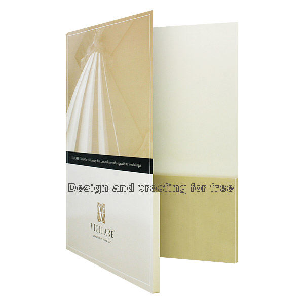 Customized printing A4 size pocket file paper folder pocket folder printing recycled paper file folder