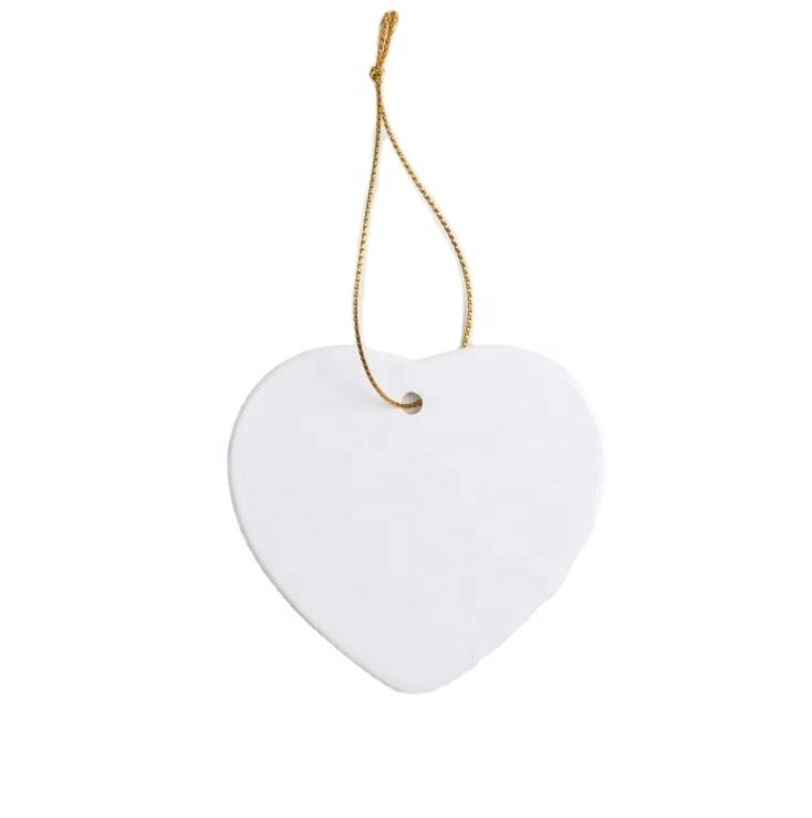 Blank Christmas Ornament Ceramic Pendant for Sublimation INk Transfer Printing Heat Press DIY