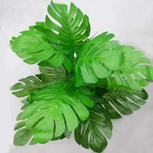 Artificial leaves green plants 12 heads long poles of monstera