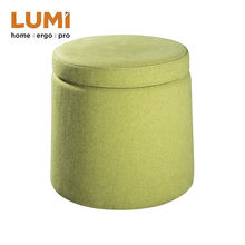 Round Ottoman Wobble Stool storage box chair with Curve Base and Storage Function