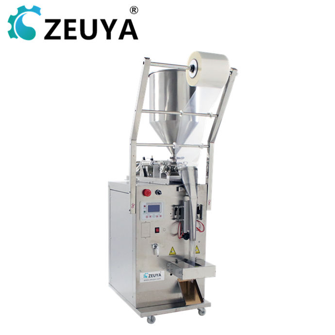 500ml three sides sealing chilli jam edible oil liquid packing machine for plastic bag