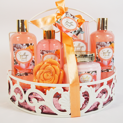Wholesales Private Label Bath and Body Works Product OEM ODM OEM  iron basket body and bath gift sets