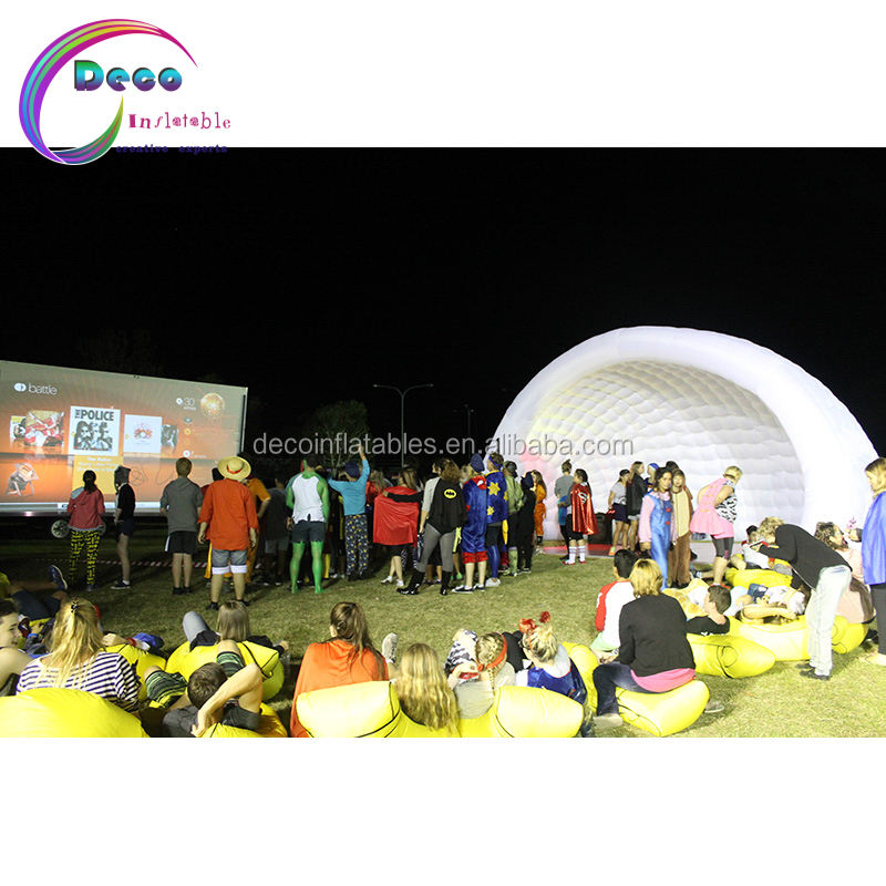 Custom logo printing white giant inflatable igloo dome tent for outdoor gathering event