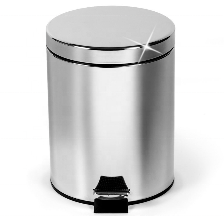 Very Cheap And Hot Selling Bathroom Stainless Steel Step Trash Can 0.8 Gallon In Kitchen (3L)