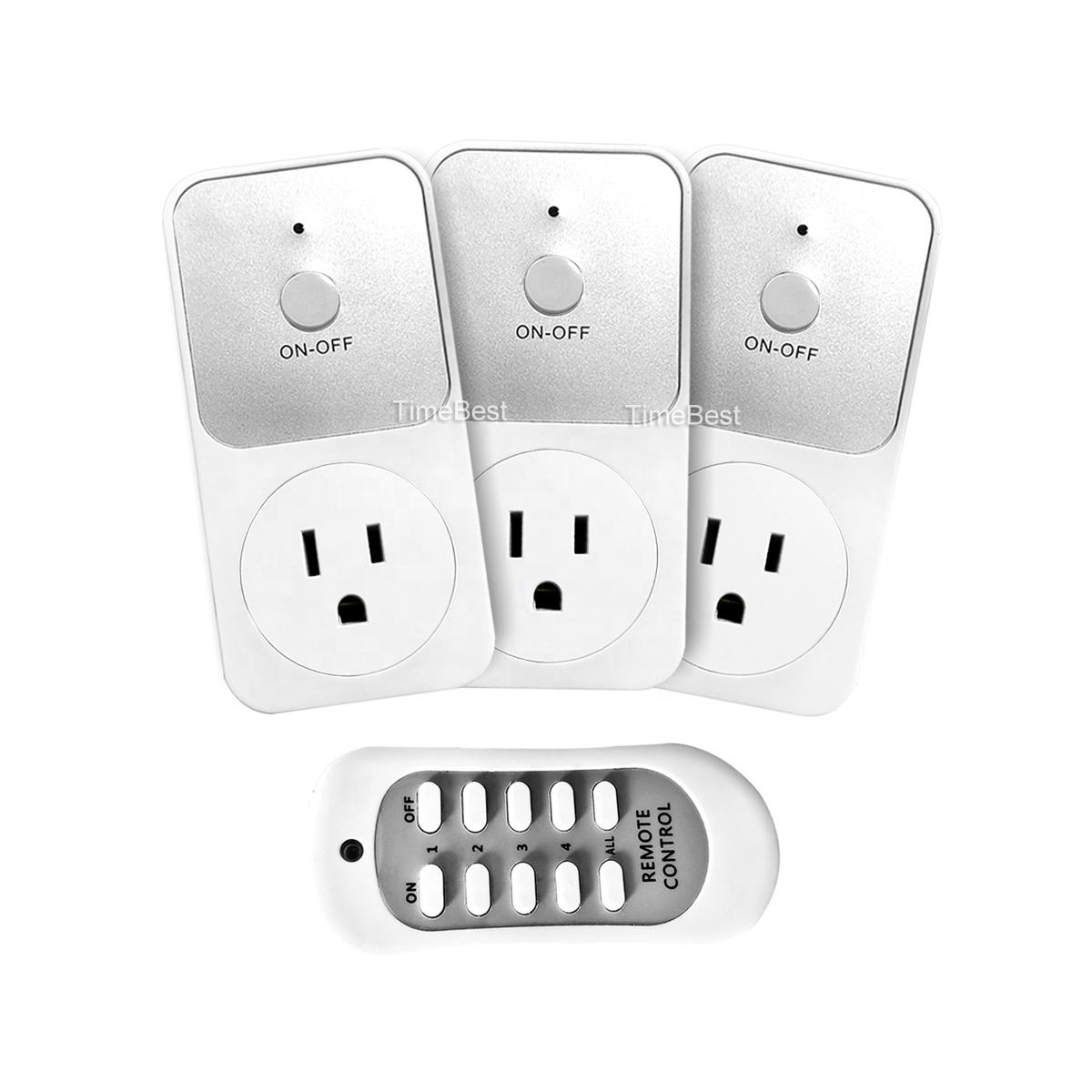 1 Pack Amerika Standaard Draadloze Smart Home Afstandsbediening <span class=keywords><strong>Outlet</strong></span>