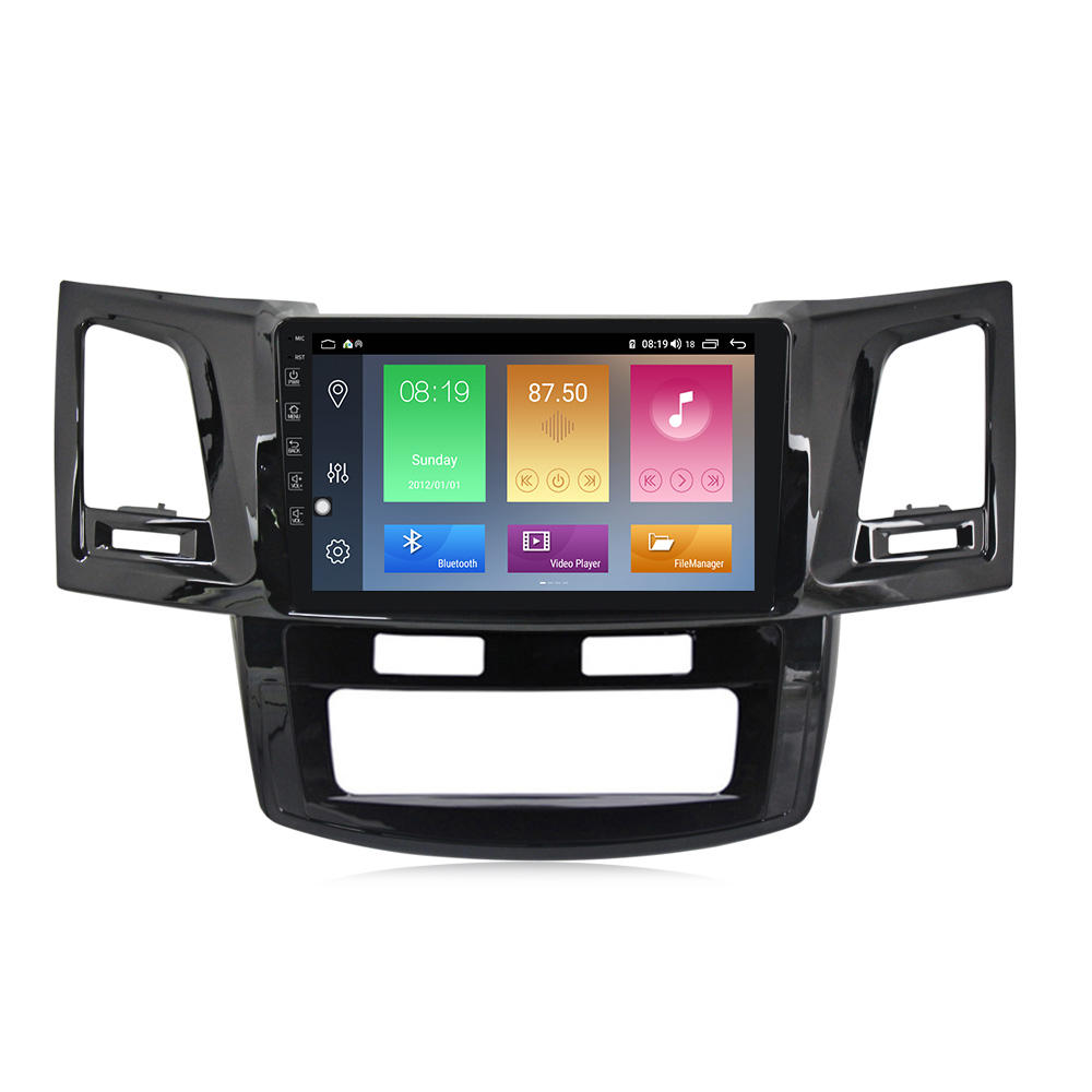 Mekede Android10.0 Quad Core 2.5D Car Audio Radio Voor Toyota Fortuner Hilux 2008-2016 Auto Entertainment Systeem Ips 4G Wifi 1 + 16G