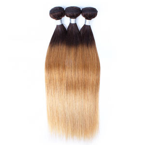 100% Human Hair Fashionable Soft Texture Straight Indian Virgin Hair Weave Bundles