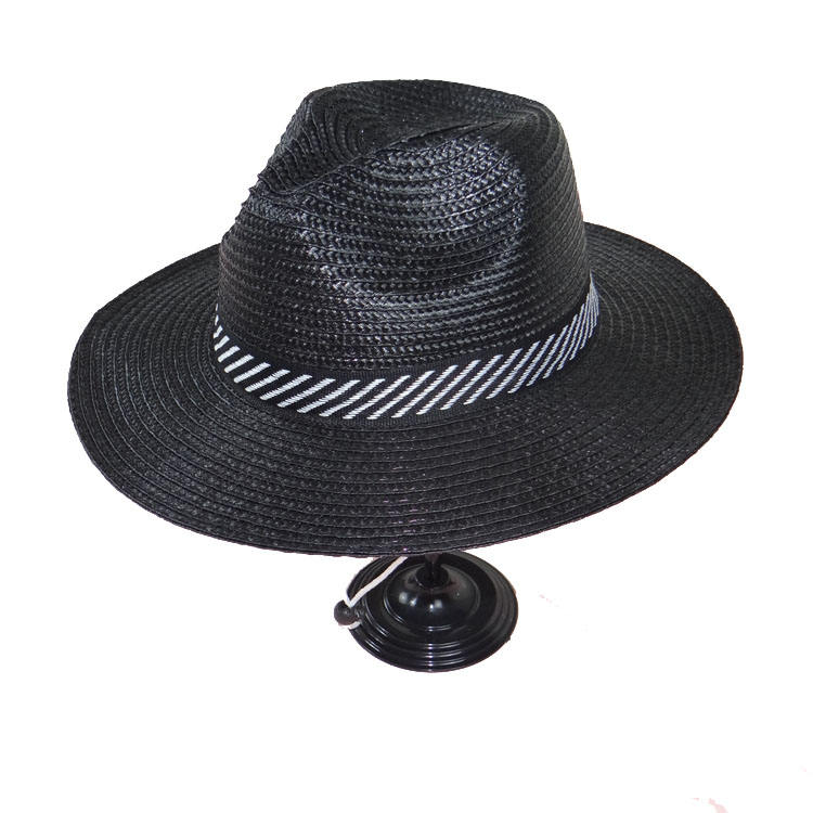 High quality custom logo with adjustable summer sun shading PP handmade ordinary straw hat