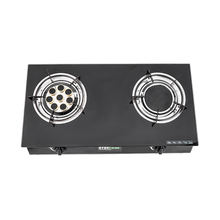 Iron Sheet  Burner 2 burner gas cooktop Glass top Table gas stove