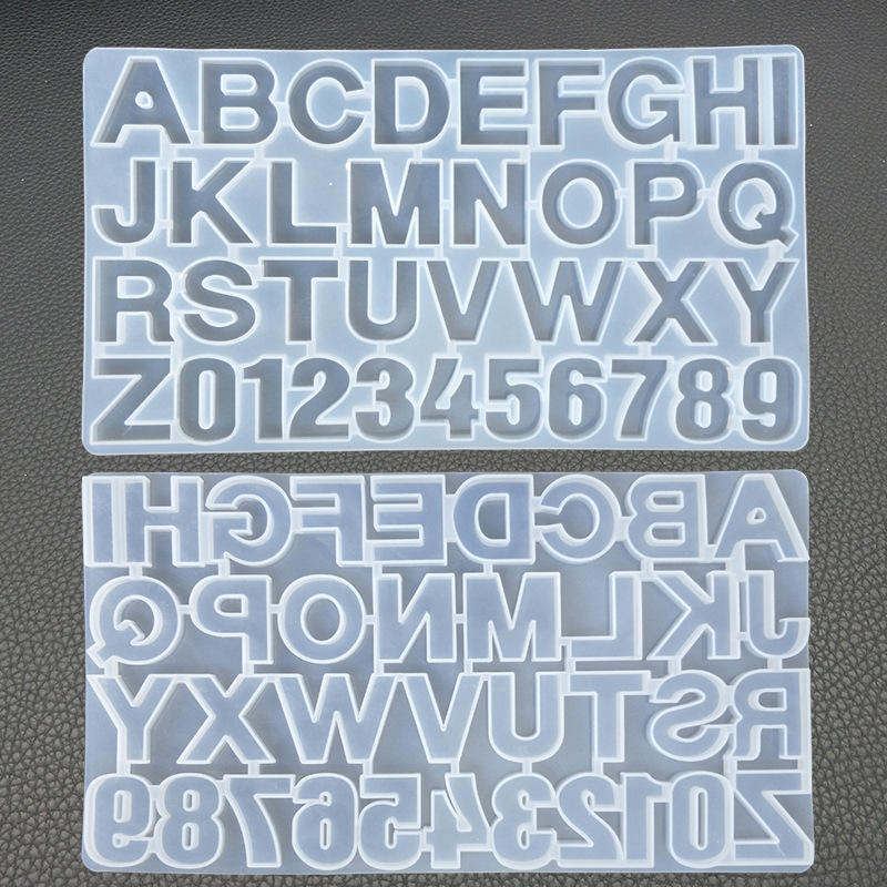 DIY crystal Epoxy 26 English letter alphanumeric Silicone mold high mirror technology mold