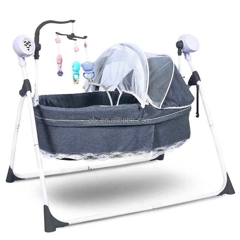 Wholesale China baby cradle 303 eletronic baby swing bed electric baby cradle