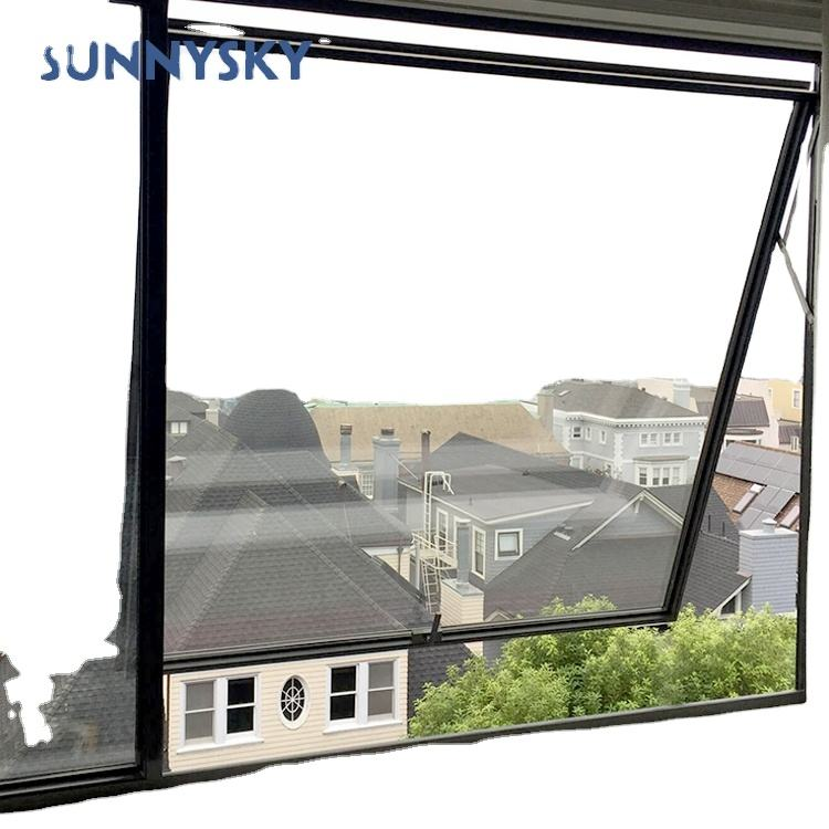 US style frameless aluminum for awning window timber opening control device