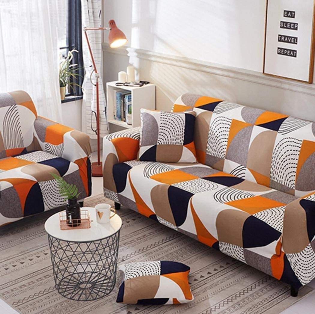 3 Seater Stretchable Sofa Cushion Cover Luxury Elastic Towel Stretch Corner Couch l Shape Sectional Set Cover For Sofa