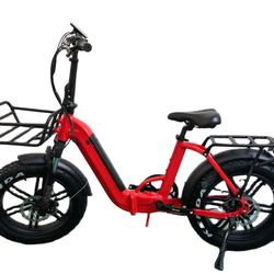 Folding electric bicycle 48v 500w hidden battery electric bike