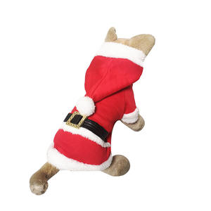 Dog Pet Christmas Coat Santa Outfit Costumes Clothes