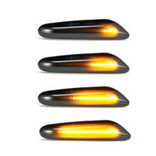 Hot sale Car lights accessories smoked Dynamic Flowing LED side marker lamp for BMW Amber
