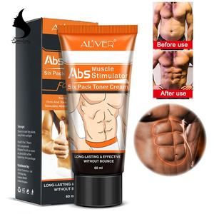 Aliver ABS Men Use Six Pack Toner Fat Hot Burn Coffee Body Slimming Muscle Train Strong Shaping Cream