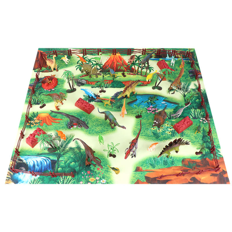 simulation animal model boy dinosaur world game carpet toy children's educational early education