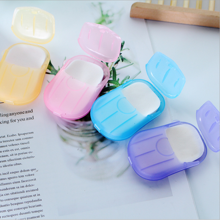 20Pcs Outdoor Portable Disposable Soap Paper Mini Paper Soap Boxed Foam Hand Washing Tablets Wash Your Hands With Soap And Water