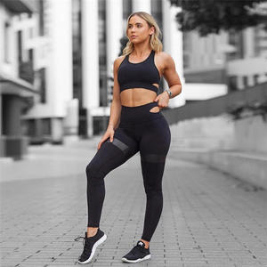 Women Tracksuit Yoga Set Running Fitness Gym Sportswear Workout Clothes Sexy Bra Leggings Sports Suit
