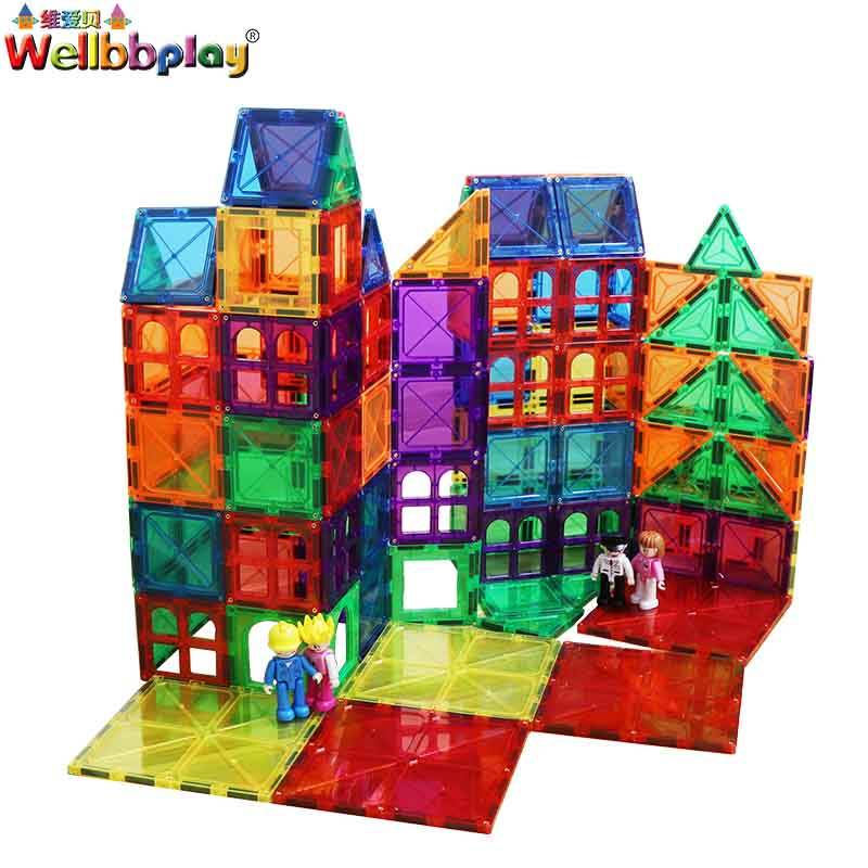 Kids toys Magnet tiles/Magnetic building blocks architectural toys for gifts