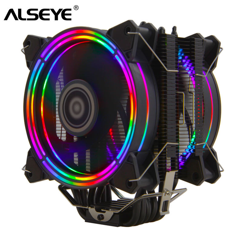 alseye H120D 120mm PWM rgb gaming cpu cooler for LGA 775 115x 1366 2011 AM2+ AM3+ AM4