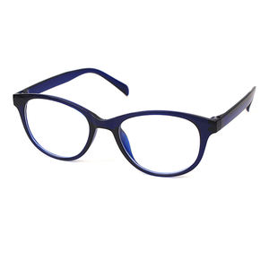 Round shape blue block TR90 reading glasses